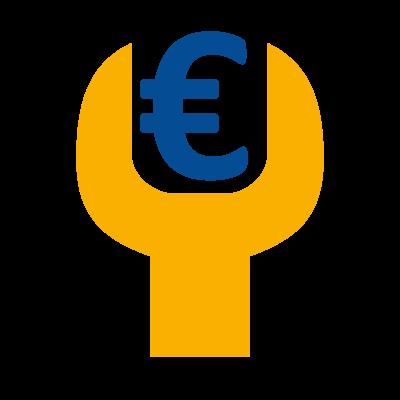 Schraubenschlüssel-mit-€-Zeichen
